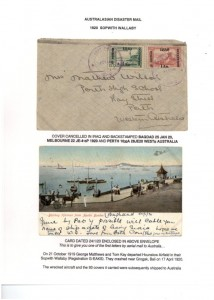 200417 Bali Crash Baghdad-Perth + card enclosed